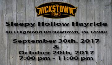 Sleepy Hollow Hayride – September 30th & October 20th