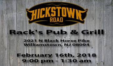 Racks Pub & Grille – February 16